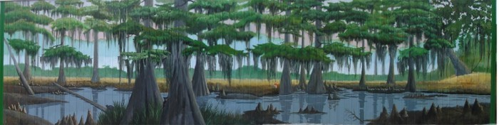 Swamp Fox Murals in Manning with the Santee River Swamp